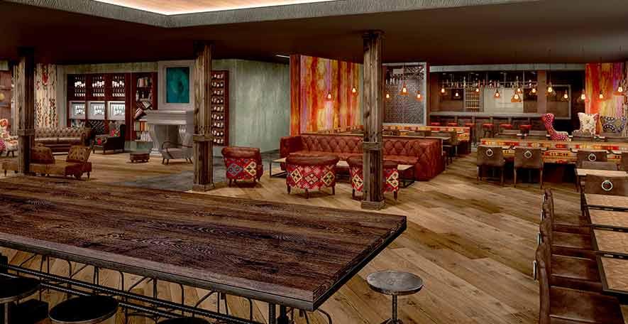 Blick in das neue Restaurant Twist des Valsana Hotel & Appartements